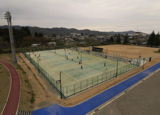 長井市テニスコート改修工事